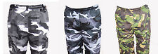 BRAND NEW CAMO CARGO CASUAL WEAR TOUGH SHORTS MULTIPLE POCKETS ALL SIZES ZIPPED