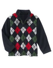 GYMBOREE SNOW CHILLIN' ARGYLE FLEECE HALF ZIP JACKET 5 6 7 8 NWT
