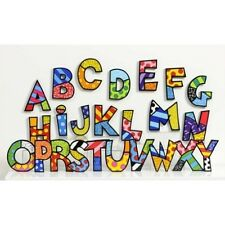 ROMERO BRITTO ALPHABET FIGURINE LETTERS HANGING OR TABLE TOP