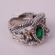 LORD OF THE RINGS JEWELRY ARAGORN'S RING OF BARAHIR 925 STERLING SILVER 7-13