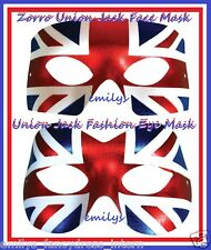 QUEENS DIAMOND JUBILEE Union Jack Masquerade Face Masks OLYMPICS Celebrations