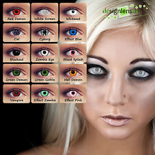 Designlenses© Fun /Crazy lenses Motivlinsen Fasnachtslins colored contact lenses