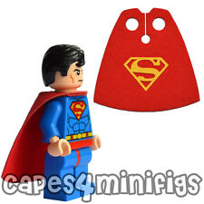 CUSTOM Superman cape - Choose yellow or grey logo.  Lego minifig not included.
