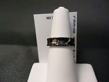 """Black Stainless Steel """"Angel"""" Concave Women's Ring Band"""