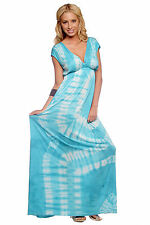 Womens Long Summer Tie Dye Beach Party Maxi Prom Cocktail Dresses Sundress H2450