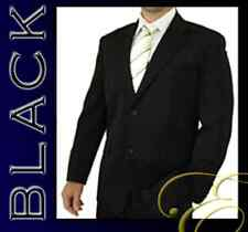 NEW BLACK MENS SUIT WEDDING BUSINESS SCHOOL FORMAL