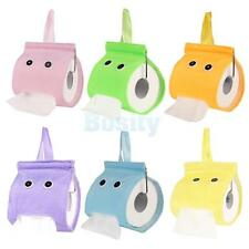 Cute Toilet WC Hanging Style Plush Paper Tissue Holder Dispenser Container Box