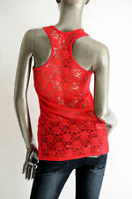 Women/Junior Floral Lace Racer Back Basic TANK Top Casual Size S