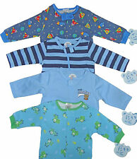 Baby Boys Sleepsuit full zip to make it easy to put on  4 Styles NB to 24m