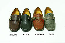 NEW  STYLE  MEN'S  CASUAL BUCKLE LOAFER SLIP ON DRIVER SHOES 6.5-12(Rock-06)