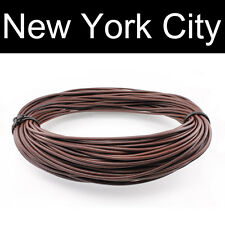 5mm Brown Leather Cord Necklace 1 yard to 110 yard (0.91 meter to 100 meter)