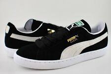 PUMA SUEDE CLASSIC ECO BLACK WHITE MENS SHOES [352634 03]