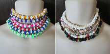 "Men's Puka Shell Necklace 18"" U-Pick Color Natural Neon BeadPuca Surfer Choker"