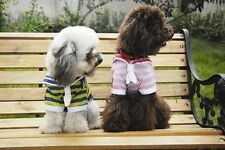Pet Dog Clothes Sailor Outfit American Flags Color Stripes Shirts Casual Appeal