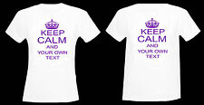 KEEP CALM AND PERSONALISE WITH YOUR OWN TEXT FITTED & STANDARD IN SIZES 6 - 26
