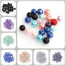 20-100pcs 4/6/8/10mm Lightful Glass Pearl Round Spacer Beads
