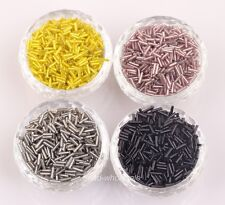 Wholesale Lots 1000 pcs Tube Czech Glass Spacer Beads 8x2mm Jewelry Making DIY