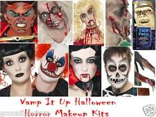 Halloween Vampire Gothic Horror Face Paint Make Up Kits Blood Zombie Fancy Dress