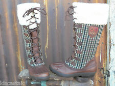 NEW Womens UGG Edmonton ALL SIZES Chocolate/Plaid Leather WATERPROOF Boots