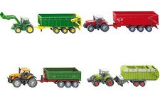 Siku Diecast Toy Tractor & Trailer Sets - Miniature 1:87 Farm Toys Vehicles NEW!