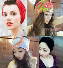 Womens Vintage Gathered Knot Pleated Turban Headband Hair Band