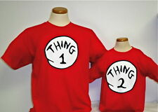 DR. SEUSS THING ONE 1 2 3 4 5 T SHIRT ADULT / YOUTH / INFANT . THING 1 SHIRT