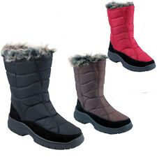 LADIES SNOW BOOTS WATERPROOF THERMAL WELLINGTONS WINTER FUR WELLIES SIZE 3-8UK