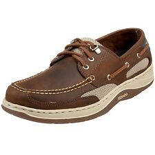 Sebago Men Clovehitch Boat Shoes Leather Walnut Brown 24367