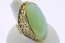 Sajen Bronze by Marianna and Richard Jacobs Green  Oval Quartz Ring