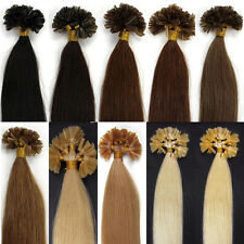 "HOT Colors! 18""20""100S Pre Bonded Glue Nail U Tip Remy Human Hair Extensions"