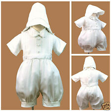 New White Short Rompers 4 Baby Toddler Boy Christening Baptism 0-30M(0 1 2 3 4)