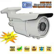 GW SonyCCD 700TVL Security Color CCTV Outdoor Camera 6~22mm 72 LED 196ft IR AC