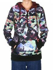 Volcom Snow Owl Long Pullover Womens Hoodie Sweater Top