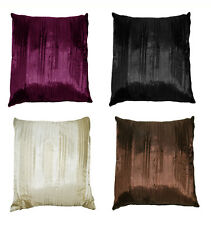 """18"""" (45 cm) Pleated cushion cover: faux silk with pleats."""