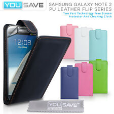 Best Case For The Samsung Galaxy Note 2 II N7100 Leather Flip Case Cover & Film