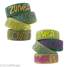 Zumba Fitness ~ PLZ WIDE RUBBER BRACELETS ~ Lots of Colors NEW NWT~ Sold Ind ~