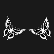 PAIR OF BUTTERFLY WINDOW DECALS STICKERS