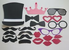 22 PHOTO BOOTH PROPS MOUSTACHE/LIPS ON A STICK WEDDINGS
