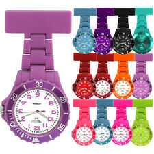 NEW WOMENS LADIES NURSE COLOURED RUBBER PLASTIC NURSES FOB WATCH BROOCH PIN