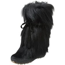 Pajar Women's Scarlet Tallle Tie Goat Hair Boot ,Available in Black, Brown,White