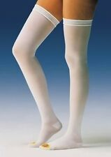 Jobst Anti Embolism TED Hose Thigh High Stocking, Elastic White, Open Toe