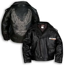 Kids Harley Davidson Classic Biker Jacket with Eagle Logo