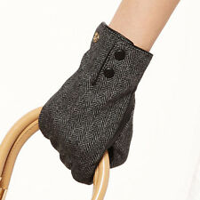 ELMA Winter Warm genuine nappa leather Plam Gloves for Christmas gift