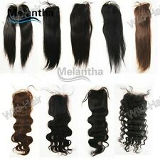 "new,12-18""100% Indian soft remy human hair 4""x4""full lace top closure"