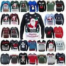 XMAS CHRISTMAS JUMPER SWEATER SNOWMAN REINDEER NOVELTY LADIES MENS =S M L XL XXL