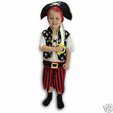KIDS PIRATE OUTFIT PIRATE DRESS UP SET COSTUME BOYS GIRLS BOOK WEEK NEW 3-10 Y