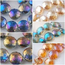 20pcs Round Faceted Charm Loose Finding Crystal Glass Spacer beads 18mm