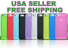2PC Ultra-Thin TPU Transparent Matte cover case for iPhone 5 S (9 Colors)