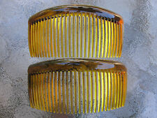 "2ea Rounded Back Hair Combs 3 3/4"" Made in USA Side Combs Your Color Choice NEW"
