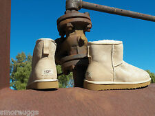 New Womens UGG Classic Mini Sand Short Ankle Suede Sheepskin Boots All Sizes